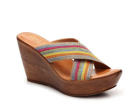 Incaltaminte Femei Italian Shoemakers Baby Wedge Sandal PinkBlue Multi