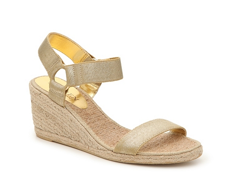 Incaltaminte Femei LAUREN Ralph Lauren Ilene Metallic Wedge Sandal Gold