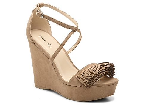 Incaltaminte Femei Qupid Clemence-187A Wedge Sandal Taupe