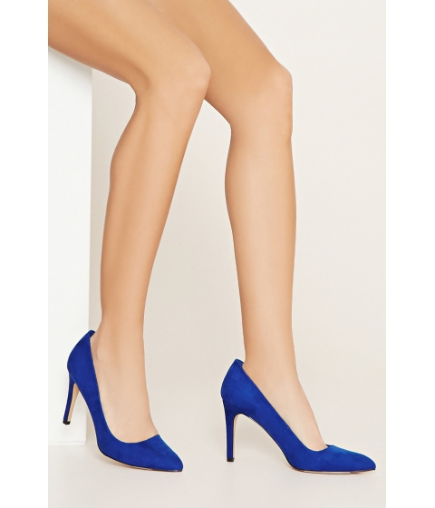 Incaltaminte Femei Forever21 Faux Suede Pointed Pumps Royal