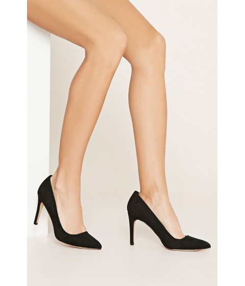 Incaltaminte Femei Forever21 Faux Suede Pointed Pumps Black
