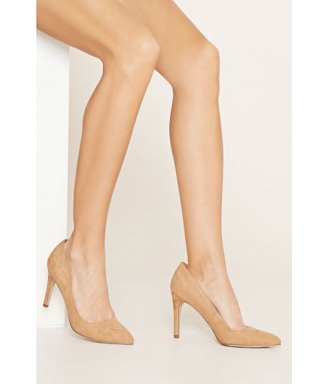 Incaltaminte Femei Forever21 Faux Suede Pointed Pumps Tan