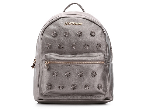 Accesorii Femei Betsey Johnson Betsey Johnson Smell The Roses Backpack Pewter