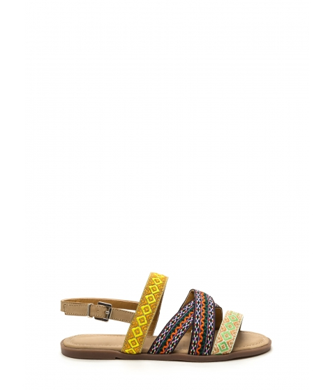Incaltaminte Femei CheapChic Stake Your Claim Woven Sandals Nude