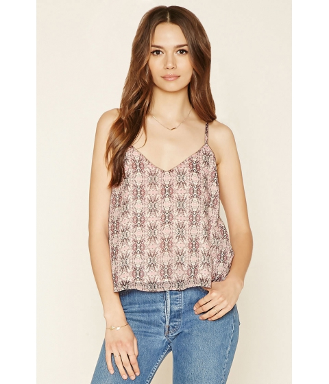 Imbracaminte Femei Forever21 Contemporary Abstract Cami Mauvelight pink