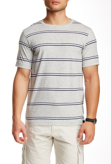Imbracaminte Barbati Burnside Short Sleeve Stripe Tee ECRU
