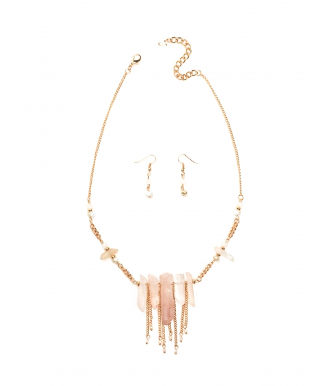 Accesorii Femei CheapChic Crystal Clear Mineral Necklace Set Cleargold