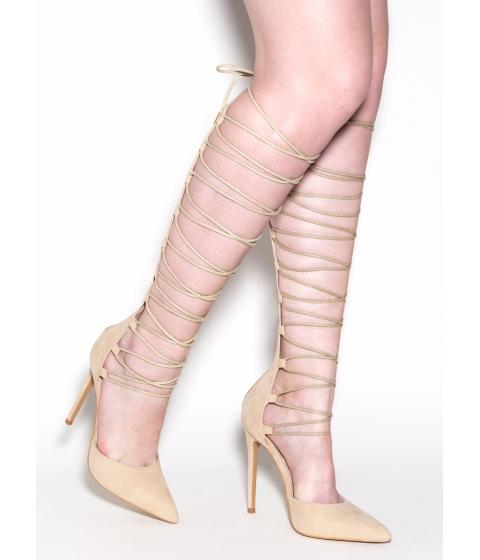 Incaltaminte Femei CheapChic Catcher In The Tie Gladiator Heels Nude