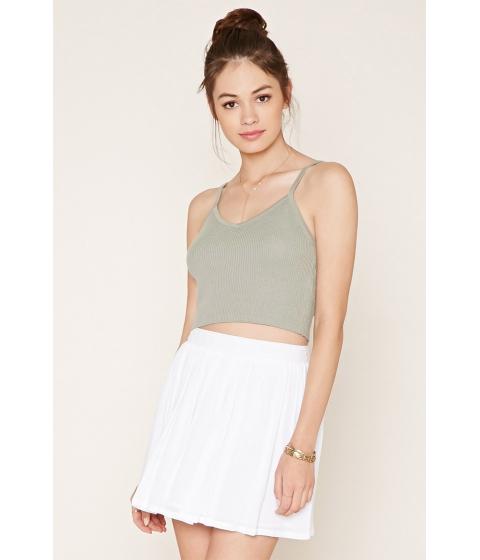 Imbracaminte Femei Forever21 Crochet-Trimmed Mini Skirt White