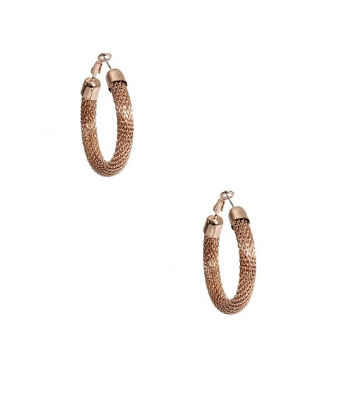 Bijuterii Femei GUESS Gold-Tone Mesh Hoop Earrings gold
