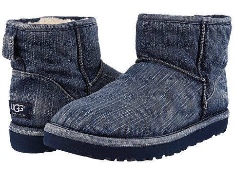Incaltaminte Barbati UGG Classic Mini Washed Denim Navy Denim