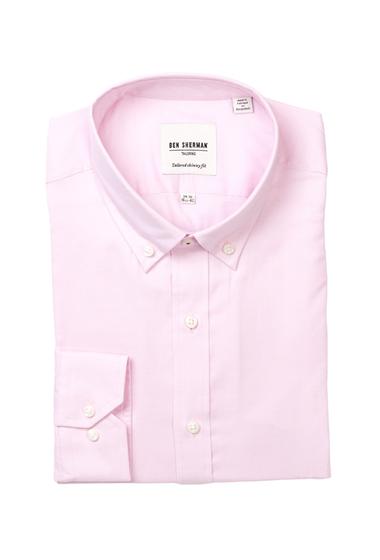 Imbracaminte Barbati Ben Sherman Long Sleeve Tailored Skinny Fit Solid Dress Shirt PINK