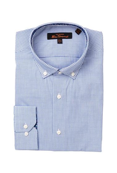 Imbracaminte Barbati Ben Sherman Kings Long Sleeve Slim Fit Micro Check Dress Shirt NAVY
