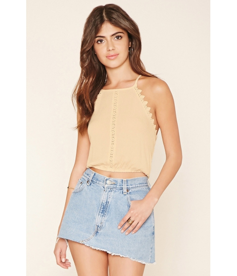 Imbracaminte Femei Forever21 Crocheted Cropped Cami Champagne