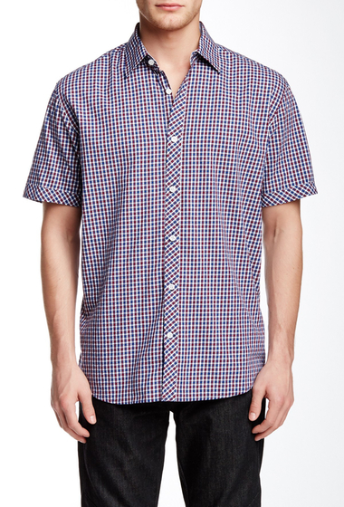 Imbracaminte Barbati James Campbell Short Sleeve Woven Shirt RED