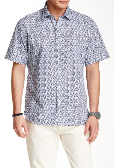 Imbracaminte Barbati Toscano Short Sleeve Woven Shirt BLUE NIGHT