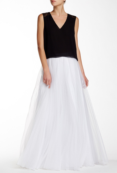 Imbracaminte Femei Alice Olivia Brit Sunburst Pleated Flare Skirt WHITE