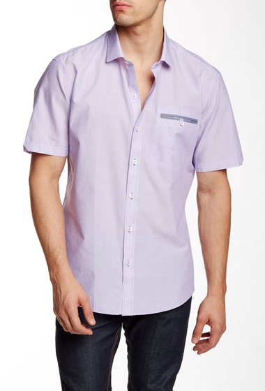 Imbracaminte Barbati Zachary Prell Keats Short Sleeve Trim Fit Shirt PURPLE