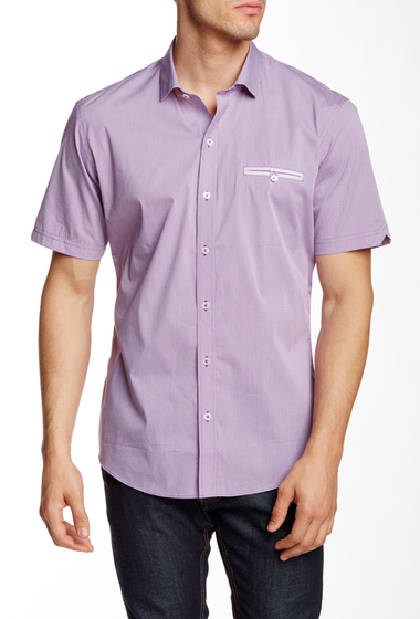 Imbracaminte Barbati Zachary Prell Kent Short Sleeve Trim Fit Shirt PURPLE