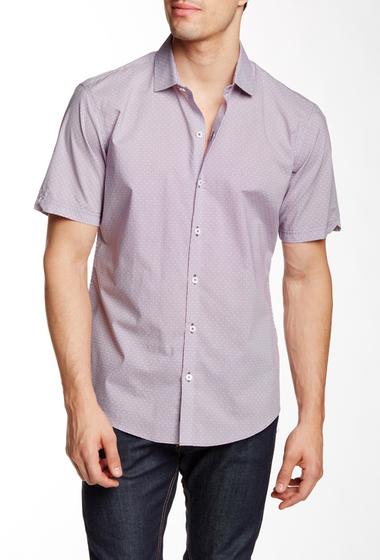 Imbracaminte Barbati Zachary Prell Mraz Short Sleeve Trim Fit Shirt PURPLE