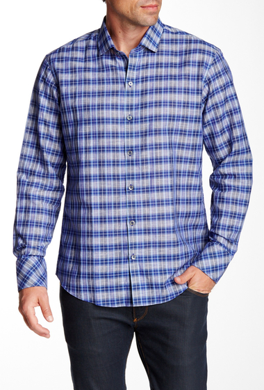 Imbracaminte Barbati Zachary Prell Schmunk Long Sleeve Trim Fit Shirt BLUE