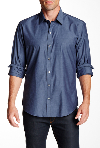 Imbracaminte Barbati Zachary Prell Lary Long Sleeve Trim Fit Shirt BLUE