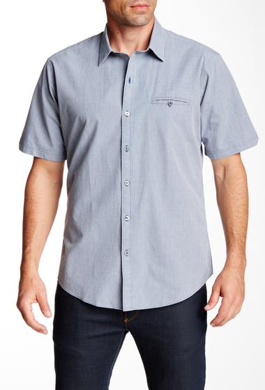 Imbracaminte Barbati Zachary Prell Aziz Short Sleeve Trim Fit Shirt BLUE