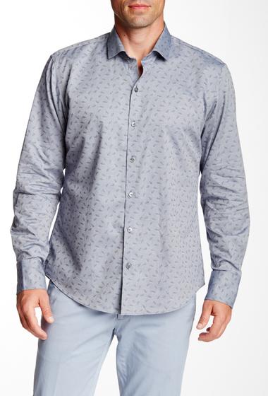 Imbracaminte Barbati Zachary Prell Morales Long Sleeve Trim Fit Shirt BLUE