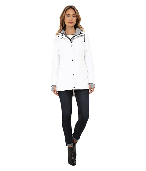 Imbracaminte Femei Jessica Simpson Zip Front Soft Shell with Hoodie White