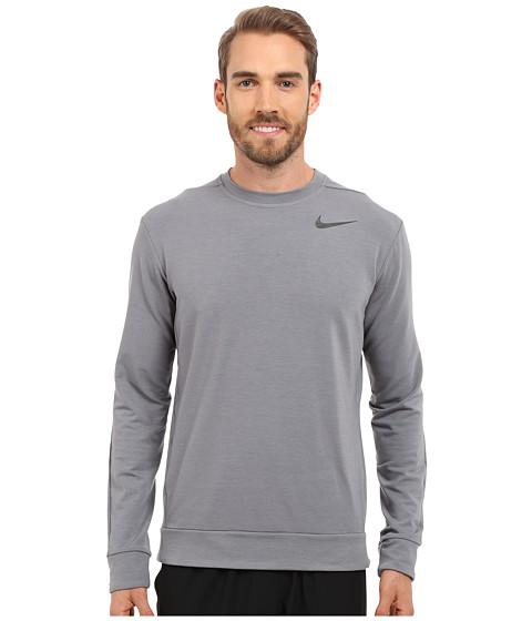 Imbracaminte Barbati Nike Dri-FITtrade Fleece Crew Training Shirt Cool GreyBlack