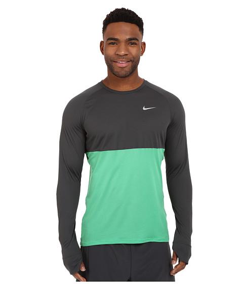 Imbracaminte Barbati Nike Dri-FITtrade Racer Running Shirt AnthraciteSpring LeafReflective Silver