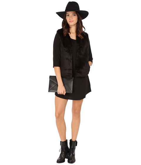 Imbracaminte Femei BB Dakota Zeek Short Hair Faux Fur Vest Black