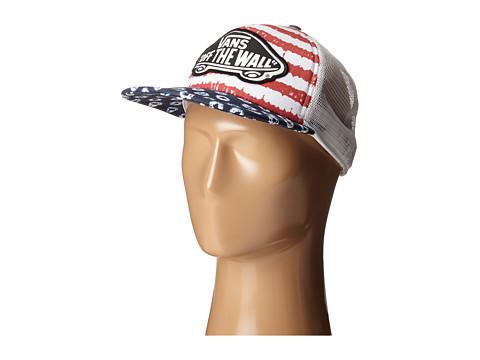 Accesorii Femei Vans Beach Girl Trucker Hat (Dyed DotsStripes) BlueRed