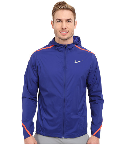 Imbracaminte Barbati Nike Impossibly Light Hooded Jacket Deep Royal BlueBright CrimsonReflective Silver