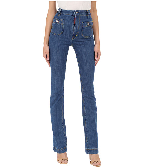 Incaltaminte Femei DSQUARED2 California Iza Jeans in Blue Blue