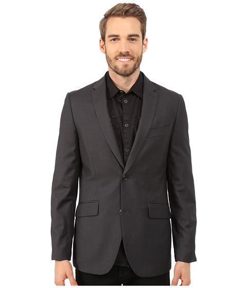 Imbracaminte Barbati Perry Ellis Slim Fit Pattern Jacket Charcoal