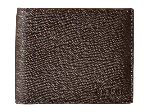 Genti Barbati Jack Spade Barrow Leather Slim Billfold Brown