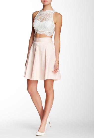 Imbracaminte Femei Amanda Chelsea Solid Circle Skirt Petite PINK