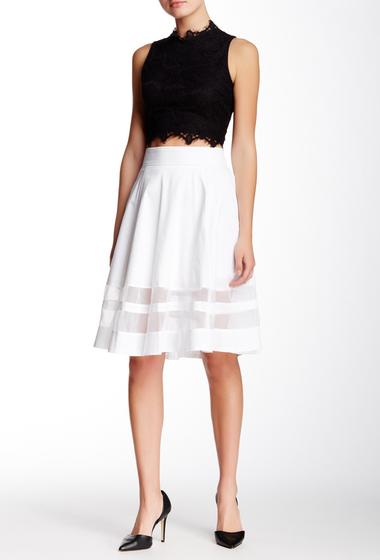 Imbracaminte Femei Amanda Chelsea Organza Inset Circle Skirt Petite WHITE