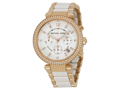 Ceasuri Femei Michael Kors Parker Chronograph White Dial Ladies Watch White