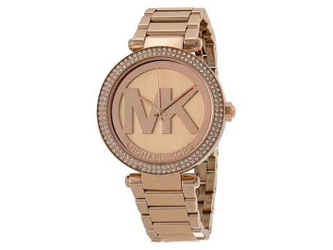 Ceasuri Femei Michael Kors Parker Dial Rose Gold-tone Ladies Watch Rose with Large MK
