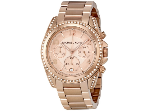 Ceasuri Femei Michael Kors Blair Chronograph Rose Dial Ladies Watch Rose