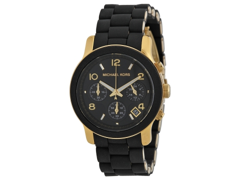 Ceasuri Femei Michael Kors Black Catwalk Chronograph Watch Black