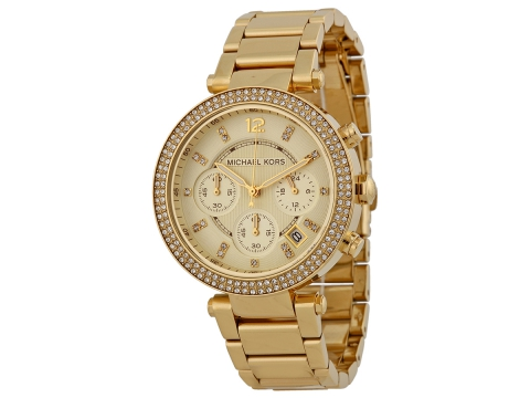 Ceasuri Femei Michael Kors Parker Chronograph Champagne Dial Ladies Watch Champagne