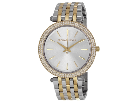 Ceasuri Femei Michael Kors Darci Silver Dial Two-tone Ladies Watch Silver