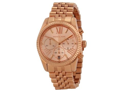 Ceasuri Femei Michael Kors Lexington Chronograph Rose Dial Ladies Watch Rose