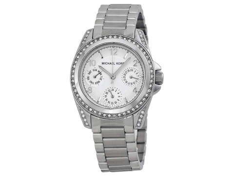 Ceasuri Femei Michael Kors Blair Multi-Function Glitz Ladies Watch Silver