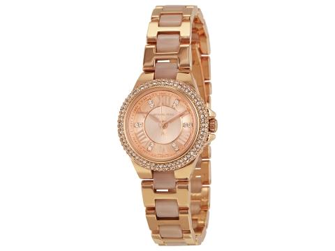 Ceasuri Femei Michael Kors Petite Camille Rose Dial Rose Gold-tone Ladies Watch Rose