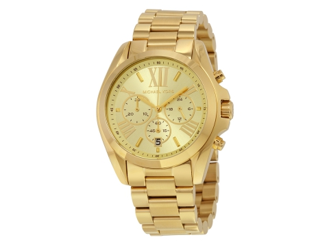 Ceasuri Femei Michael Kors Bradshaw Chronograph Champagne Dial Unisex Watch Champagne
