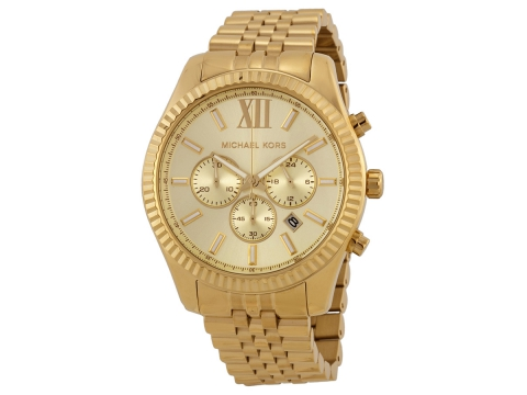 Ceasuri Barbati Michael Kors Lexington Chronograph Champagne Dial Men's Watch Champagne